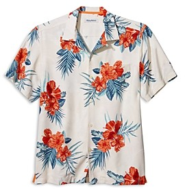 Tommy Bahama Hilo Hibiscus Silk Regular Fit Camp Shirt