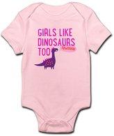 CafePress - Girls Like Dinosaurs Too RAWRRHH Body Suit - Cute Infant Bodysuit Baby Romper