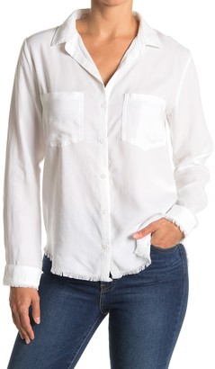 Cloth & Stone Frayed Button Down Blouse