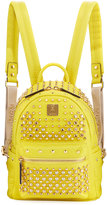 MCM Special Stark Embellished Mini Backpack, Yellow