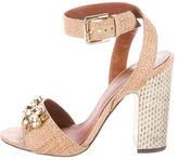 Dolce & Gabbana Embellished Raffia Sandals