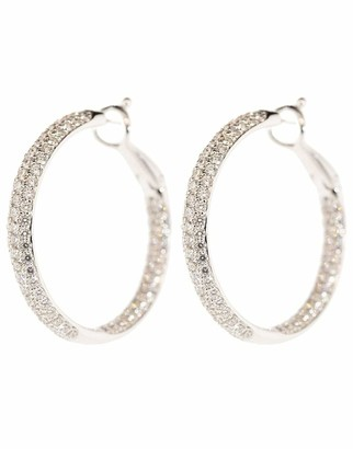 Kwiat Pave Diamond Hoop Earrings