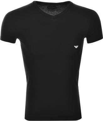 Giorgio Armani Emporio V Neck T Shirt Black