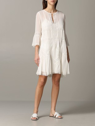 Twin-Set Dress In Cotton And Lace