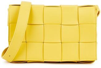 Bottega Veneta Cassette Intrecciato Yellow Leather Cross-body Bag