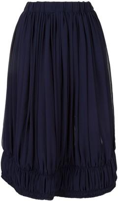 Comme des Garcons Ruched Hem Mid Skirt