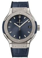 Hublot Classic Fusion 33mm Chronograph Titanium Blue Watch