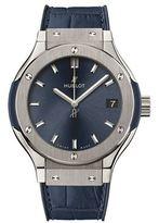 Hublot Classic Fusion 33mm Chronograph Titanium Blue Watch