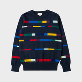 Paul Smith Boys' 2-6 Years Navy 'Block-Stripe' Intarsia Cotton-Cashmere Sweater