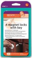 KidCo Magnet Lock Plus Key and Holder - White - 6 ct