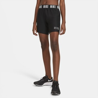"Nike Big Kids' (Girls') 6"" Training Shorts Dri-FIT Trophy"