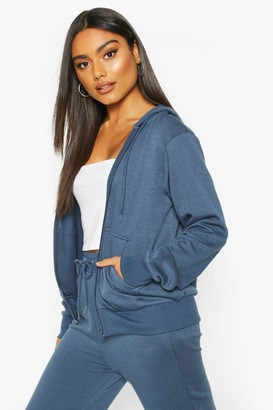 boohoo Basic Soft Mix & Match Zip Through Hoodie