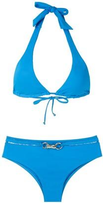 AMIR SLAMA Metallic Embellishment Bikini Set