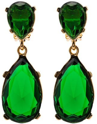 Kenneth Jay Lane Gold-Tone Crystal Drop Earrings