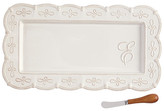 Mud Pie Initial Hostess Tray 2-Piece Set - E