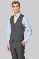 Hardy Amies Tailored Fit Grey Prince of Wales Check Waistcoat