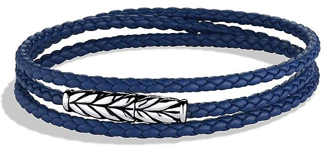 David Yurman Chevron Triple-Wrap Bracelet in Blue