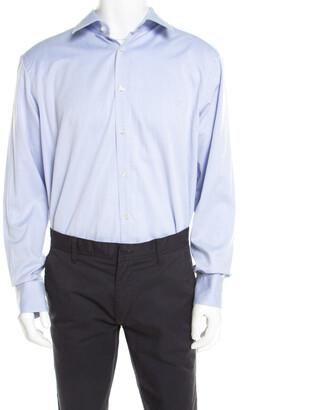 HUGO BOSS Boss By Cotton Twill Long Sleeve Button Front Shirt 4XL
