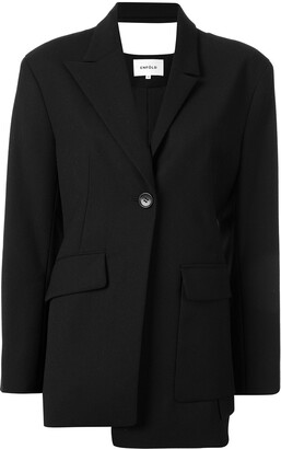 Enfold Fitted Asymmetric Blazer