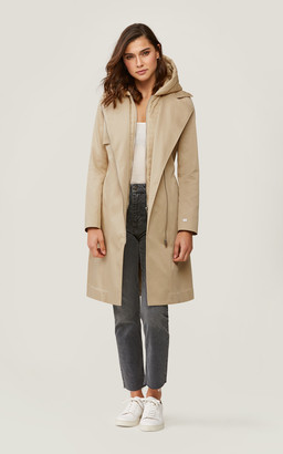 Soia & Kyo ATHIE trench coat with removable hood and bib