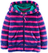 Boden Girls' Hooded Teddy Blue Sweater