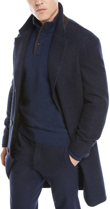 Ermenegildo Zegna Men's Cashmere-Silk Boucle Coat