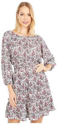 MICHAEL Michael Kors Abstract Scroll Smock Dress (Shell Pink) Women's Dress