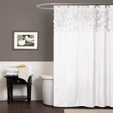Lush Decor Lillian Shower Curtain, 72 by 72-Inch, White