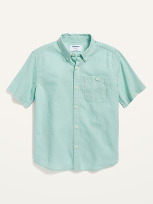 Old Navy Short-Sleeve Linen-Blend Shirt for Boys