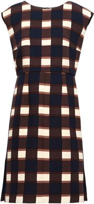 Marni Checked Wool-crepe Dress