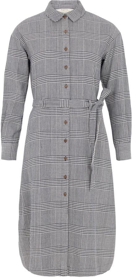People Tree Asta Checked Shirt Dress - 8 (UK) | organic cotton