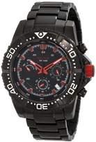 Redline Red Line RL-50030VK-BB-11RD – Watch Men – Quartz – Chronograph – Stainless Steel Bracelet Black