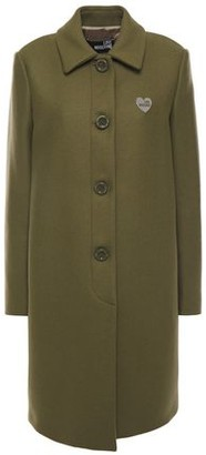 Love Moschino Appliqued Wool-blend Twill Coat