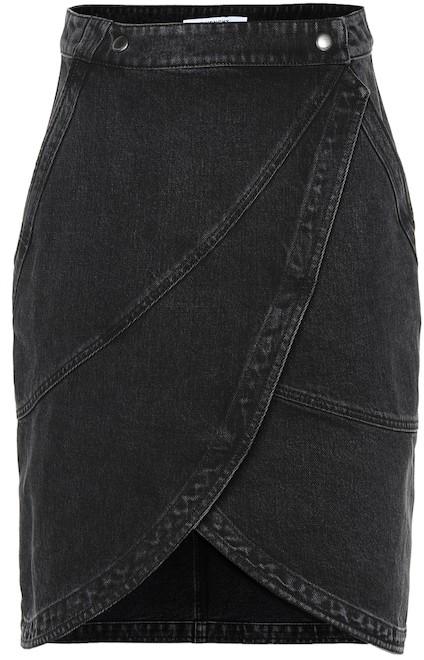 34fd65e28 Black High Rise Denim Skirt - ShopStyle