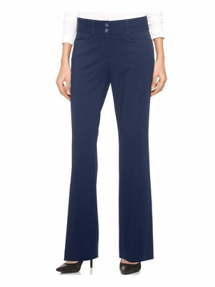 Alfani Womens Navy Pocketed Zippered Solid Boot Cut Evening Pants Plus US Size: 20W