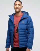 Nike Av15 Hooded Jacket In Blue 806855-423