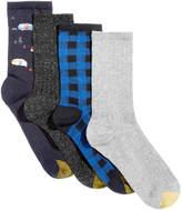 Gold Toe Women's 4-Pk. Glamping Buffalo-Check Crew Socks