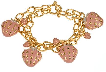 Lauren G Adams Strawberry Charm Bracelet
