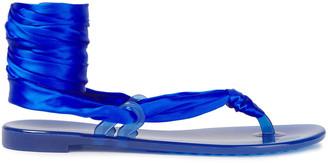 Casadei Lace-up Silk-satin Sandals