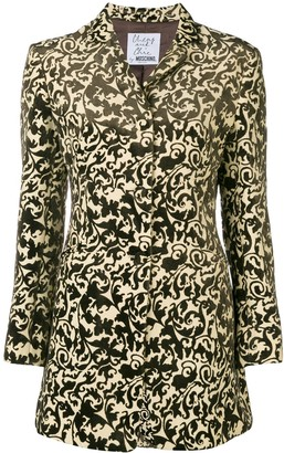 Moschino Pre-Owned burnout velvet jacket