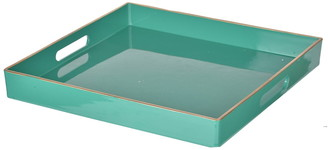 R16 Home Turquoise Mimosa Square Tray