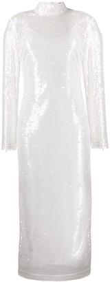 STAUD sequin mid-length dress