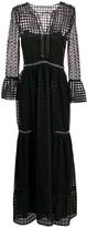 Alberta Ferretti sheer patterned evening dress