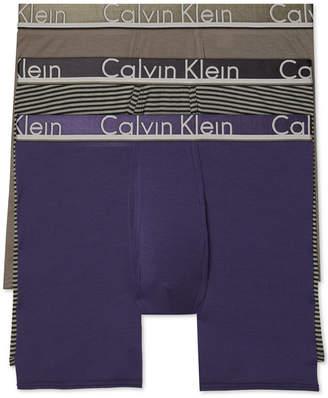 Calvin Klein Men Comfort Microfiber Boxer Brief 3 Pack