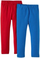 Jo-Jo JoJo Maman Bebe 2 Pack Leggings (Toddler/Kid) - Red-5-6 Years