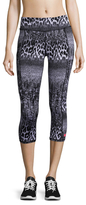 Betsey Johnson Animal Lace Embroidered Capri Legging