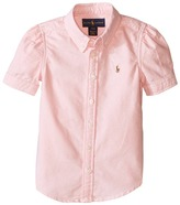 Polo Ralph Lauren Classic Solid Oxford Shirt Girl's Long Sleeve Button Up