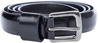 Dries Van Noten Black Leather Belts