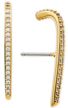 AVA NADRI Pave Curved Bar Drop Earrings
