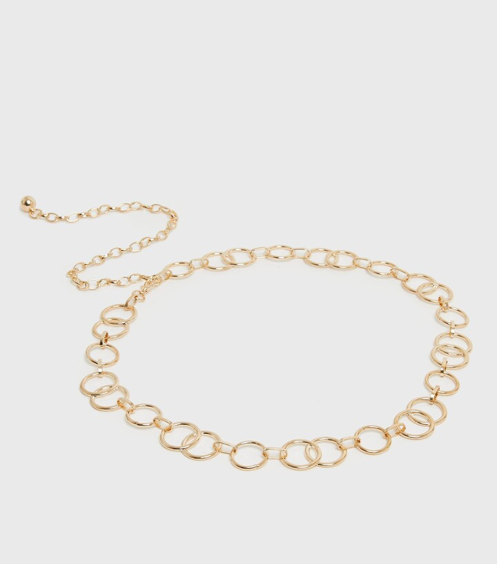 Thumbnail for your product : New Look Circle Chain Belt
